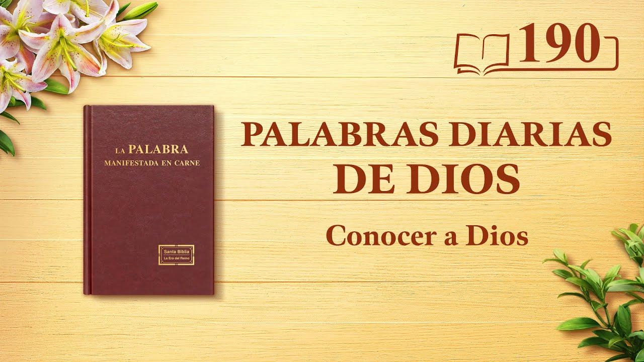 """Palabras diarias de Dios   Fragmento 190   """"Dios mismo, el único X"""""""
