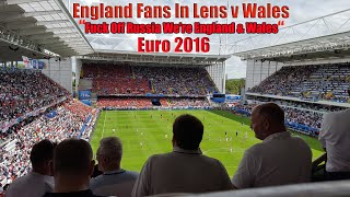 England fans & wales football fans in lens euro 2016 - france