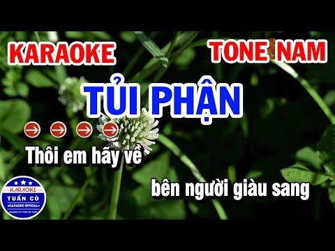 Karaoke Tủi Phận Tone Nam Gm Nhạc Sống   Karaoke Tuấn Cò