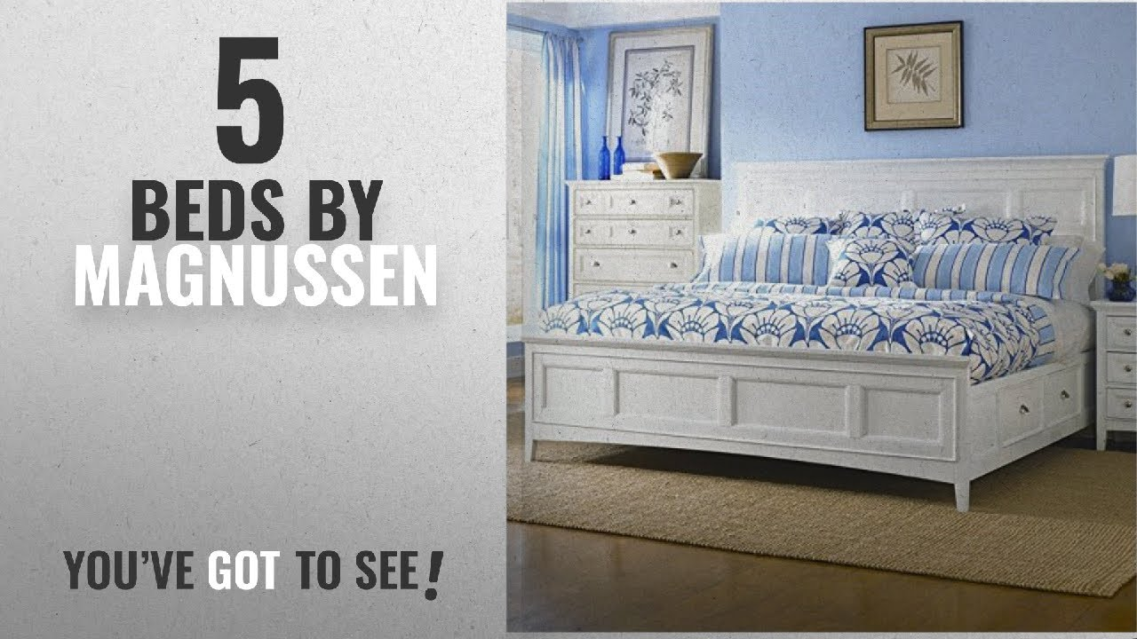 Top 10 Magnussen Beds [2018]: Magnussen Kentwood Panel Bed With Storage In  White   Queen