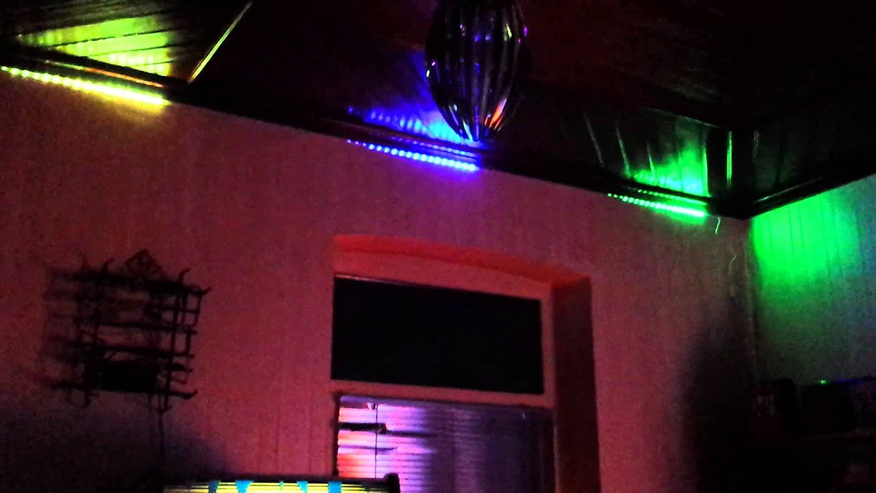Game Room RGB LED - YouTube for Led Strip Lights Gaming Room  110yll