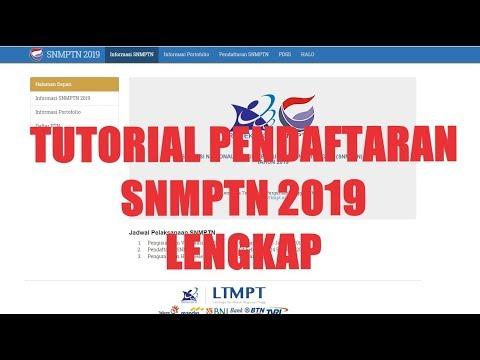 TUTORIAL PENDAFTARAN SNMPTN 2019