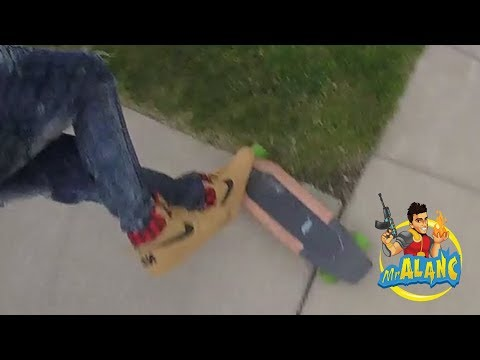 Acton Blink S Electric Skateboard Wipe Out!!! My Body Goes F
