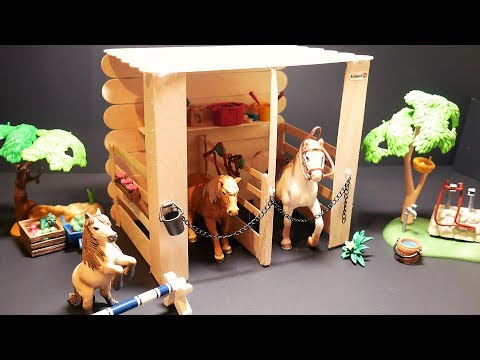 Schleich Horse Stable DIY | Easy Schleich Stall Tutorial