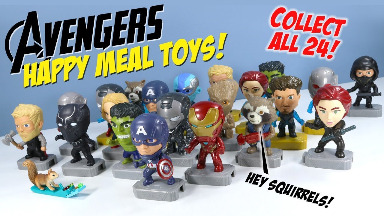 Avengers Endgame Mcdonalds Happy Meal Toys Full Collection