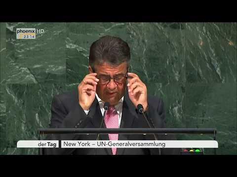 Sigmar Gabriel zur Rede von US-Präsident Donald Trump vor der UN-Generalversammlung am 21.09.17