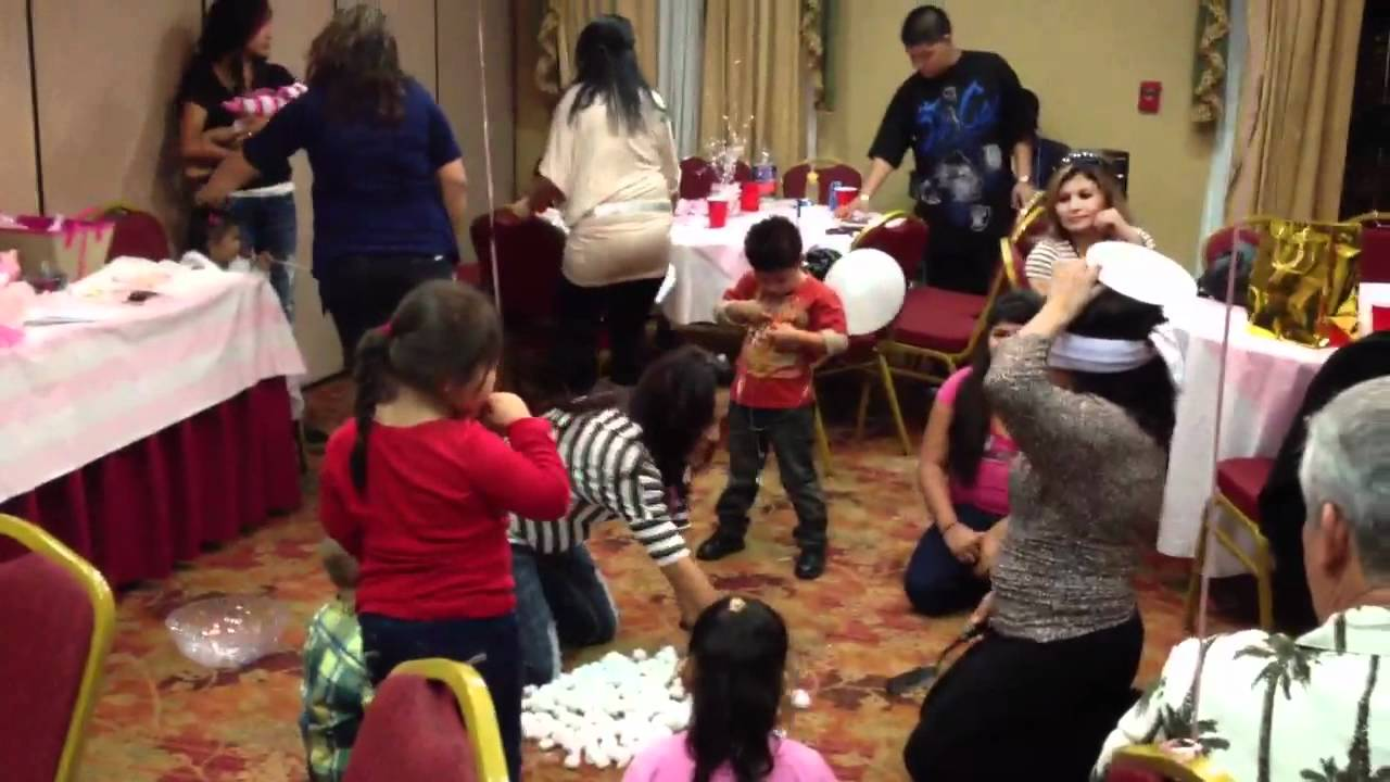 Baby Shower Cotton Ball Game Pt 1 Youtube