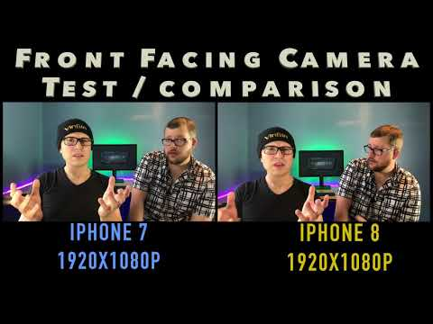 📲 Front Facing camera Test iphone 7 vs iphone 8