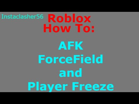 AFK ForceField Script - Roblox | How to make an AFK script
