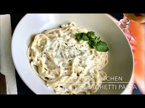 3 Cheese Spaghetti Recipe | White Sauce Pasta | French Creamy Spaghetti Pasta