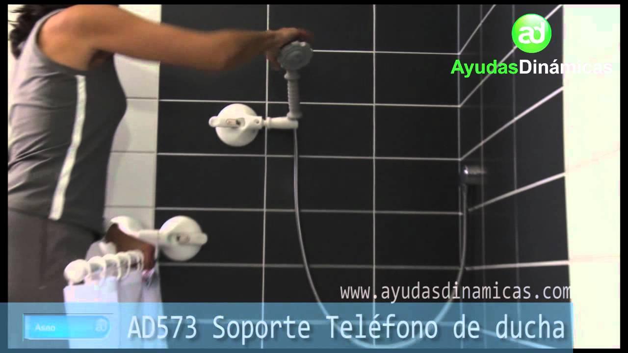 Barra soporte cortina soporte para tel fono de ducha y for Telefono ducha