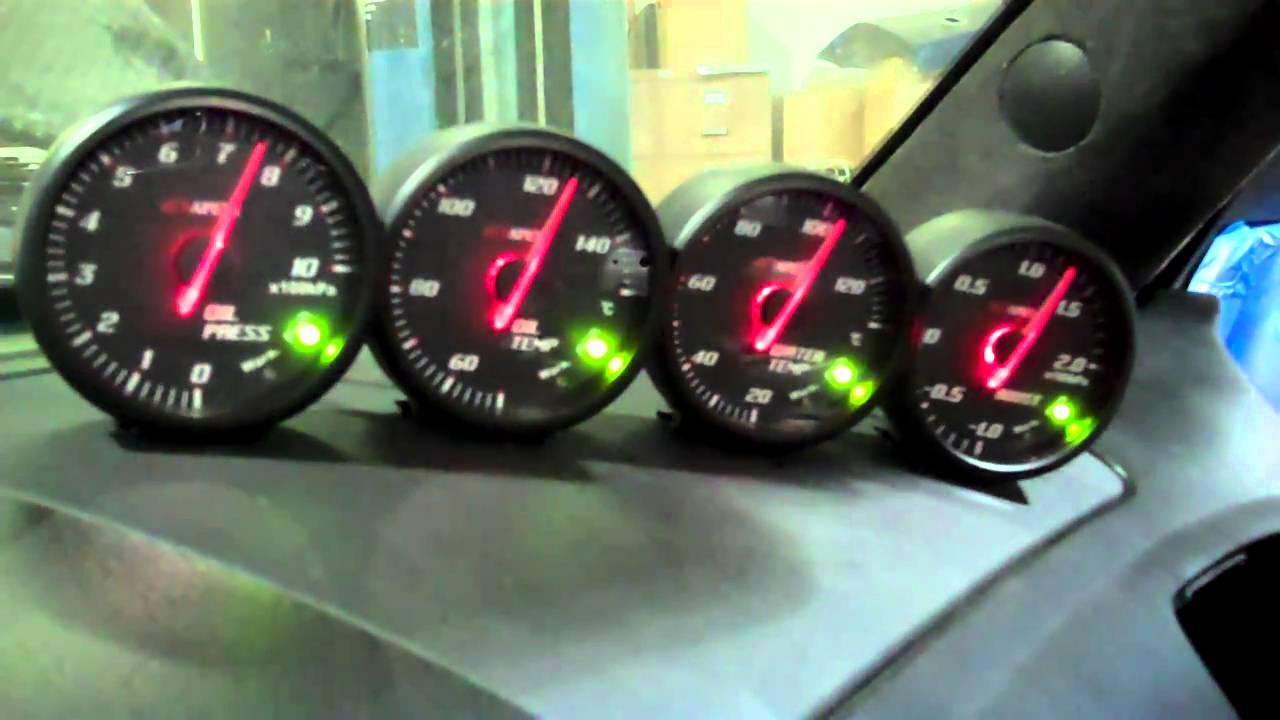 maxresdefault project import apexi el ii system meter gauges demo youtube apexi el boost gauge wiring diagram at nearapp.co