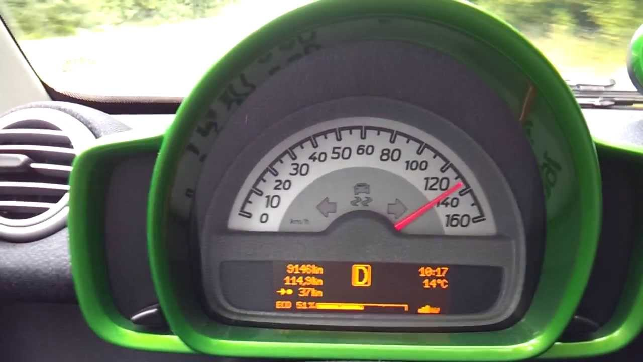 Smart Fortwo Electric Drive 0-100 and Topspeed V-Max - YouTube