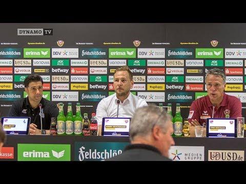 1. Spieltag   SGD - MSV   Pressekonferenz nach dem Spiel