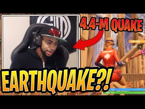 Daequan Hit by Earthquake While Playing Fortnite Live! - Fortnite Best and Funny Moments
