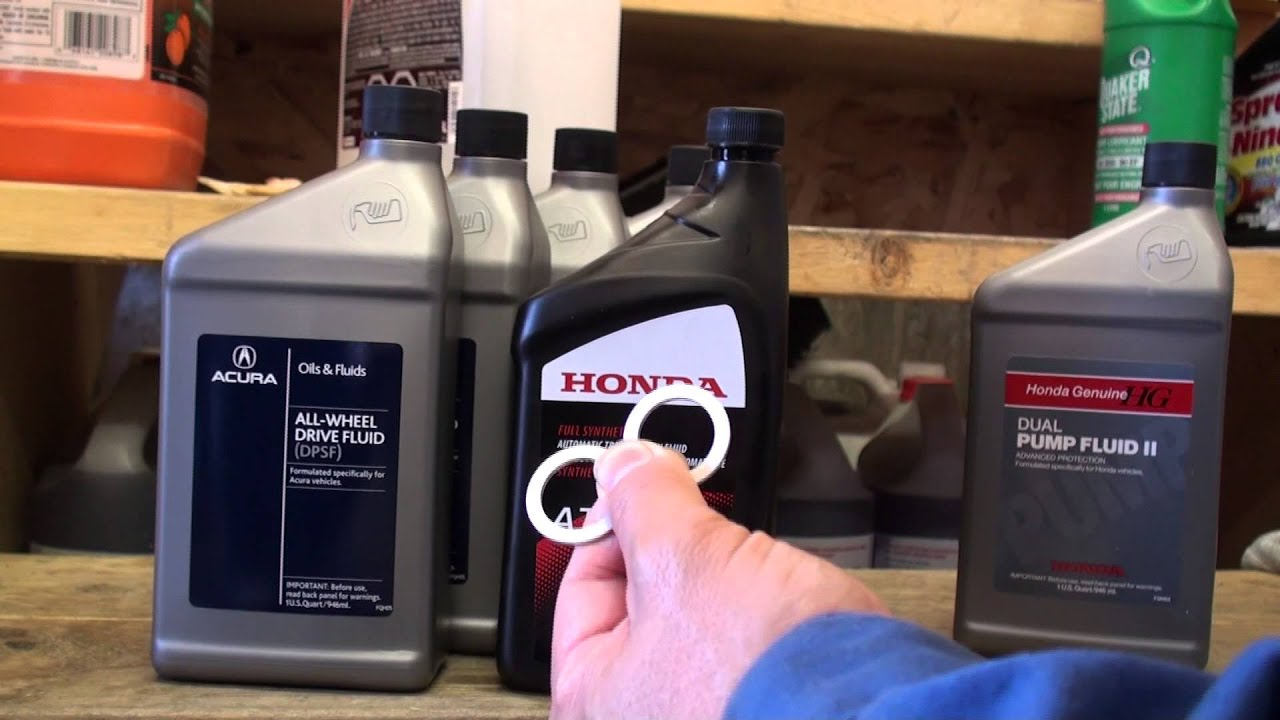 Acura RL Rear Differential Fluid Change YouTube - Acura rl transmission fluid