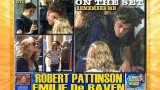 ROBERT PATTINSON and EMILIE De RAVEN on the set REMEMBER ME