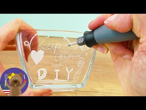 DIY Gift Idea ENGRAVING GLASS | Testing Dremel 3000