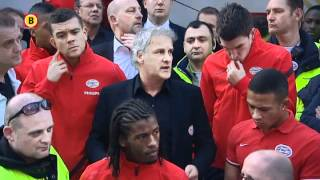 Supporters reageren woedend op spelers en trainer