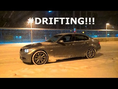 driving in snow with bmw e90 330i some flatouts and dr doovi. Black Bedroom Furniture Sets. Home Design Ideas