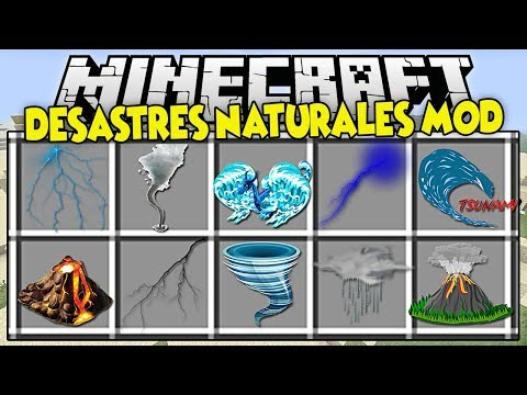 MOD DE MINECRAFT | LUCHA Y SOBREVIVE A LOS DESASTRES NATURALES | MOD PARA MINECRAFT