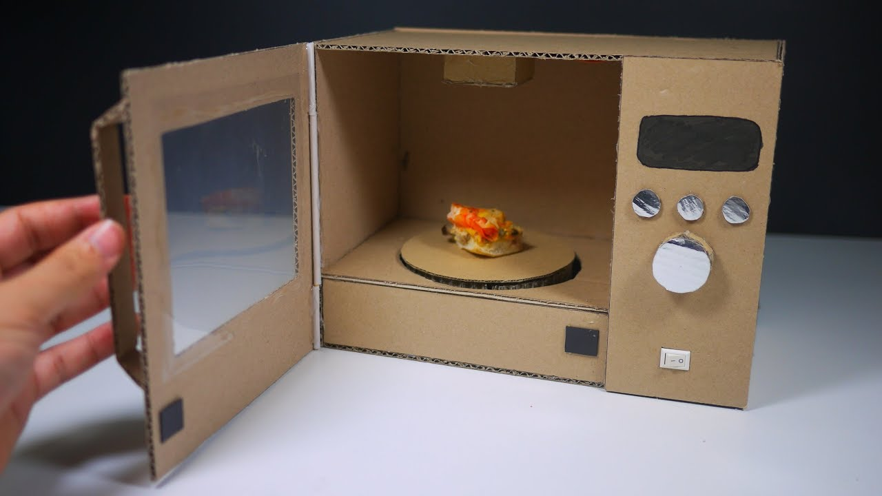 How To Make Toy Microwave Oven At Home Youtube
