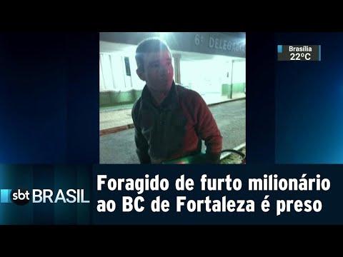Foragido de furto milionário ao BC de Fortaleza é preso no DF | SBT Brasil (14/08/18)