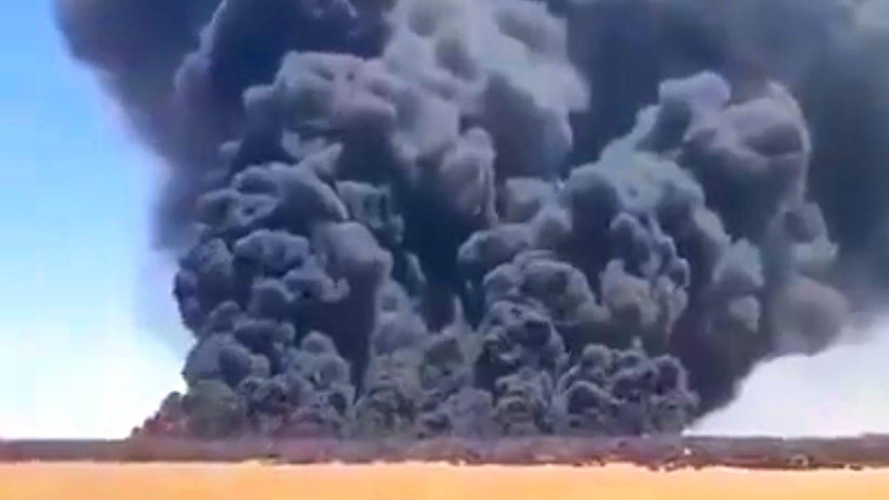 Крупнейшая в мире свалка шин горит в Кувейте