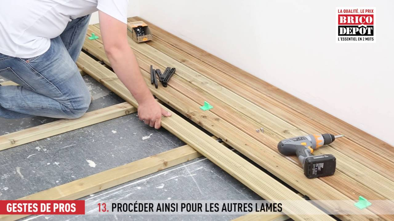 Dalle Composite Clipsable Brico Depot Comment Fixer Des Lames De Terrasse