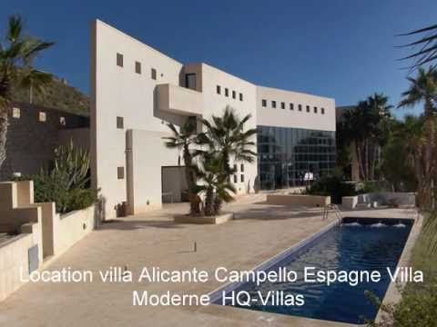 villa de luxe alicante espagne villa moderne et design youtube. Black Bedroom Furniture Sets. Home Design Ideas