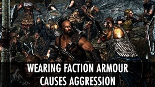 Skyrim Mod: Wearing Faction Armour Causes Aggression