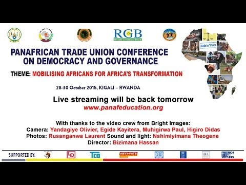 Day 2: Panafrican Trade Union Conference on Democracy and Governance