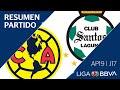 Resumen y Goles | América vs Santos Laguna | Jornada 17 - Apertura 2019 | Liga BBVA MX