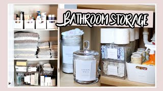 BATHROOM STORAGE / LINEN CLOSET / UNDER THE SINK STORAGE