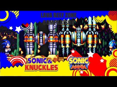 Download Sonic Mania And Sonic 3 Knuckles Lava Reef Zone Side By
