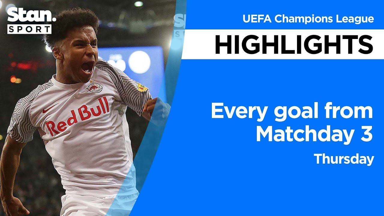 Download Every goal from Matchday 3 - Thursday | UEFA Champions League | 2021-22