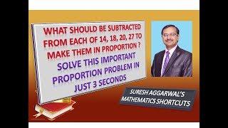Trick 375 - Shortcut for an IMPORTANT PROPORTION PROBLEM