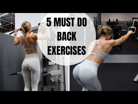 5 MUST DO BACK EXERCISES | Honestly the best!