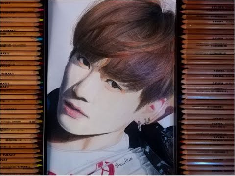 Drawing BTS Jeon Jungkook 방탄 소년단:전 정국