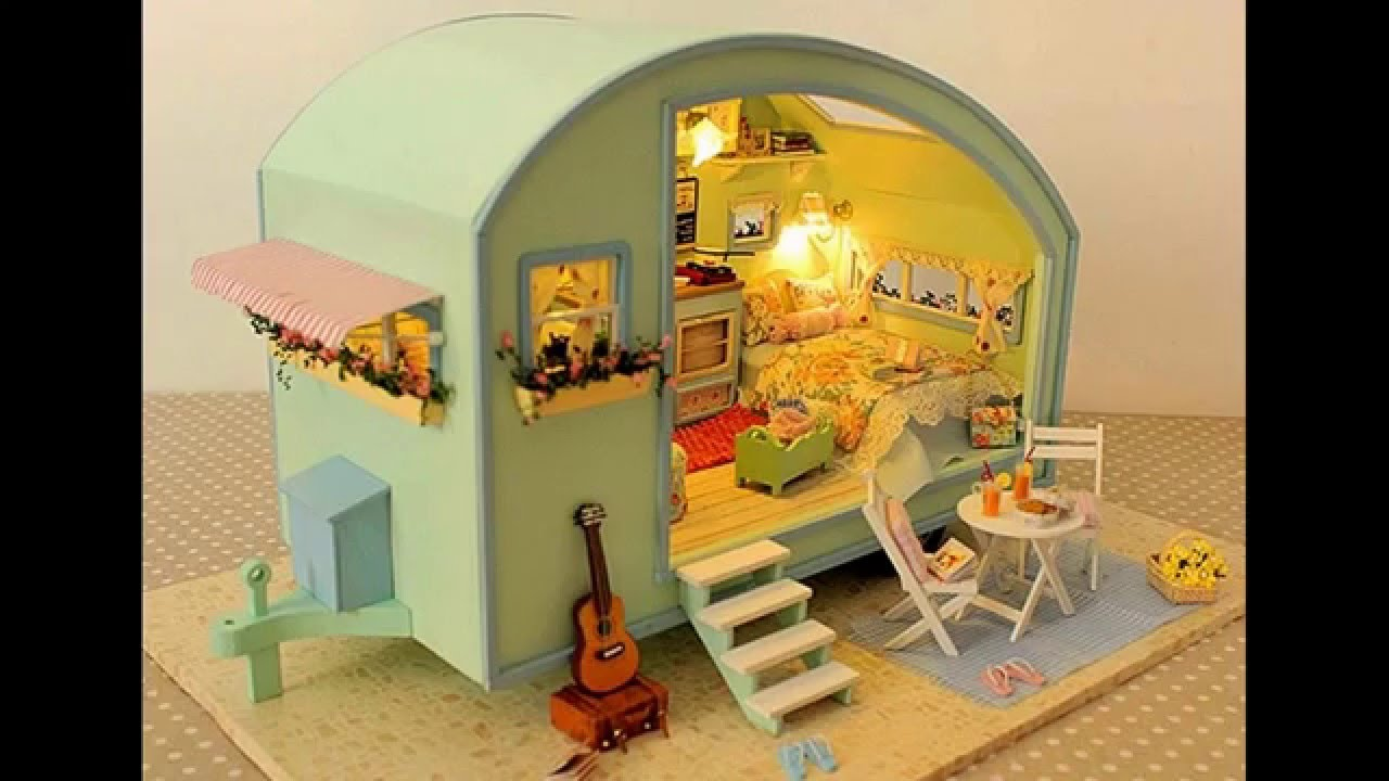 build dollhouse furniture. Making Dollhouse Furniture Wood. Diy Wooden Doll House With Music And Voice Control Build