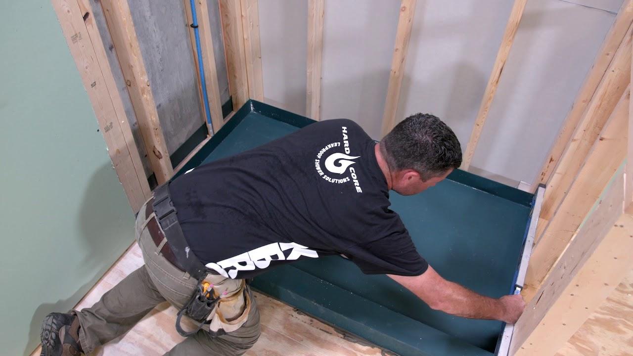 Install A Shower Pan Kbrs Tile Basin
