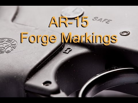 AR-15 Forge Symbols On Lower Receiver