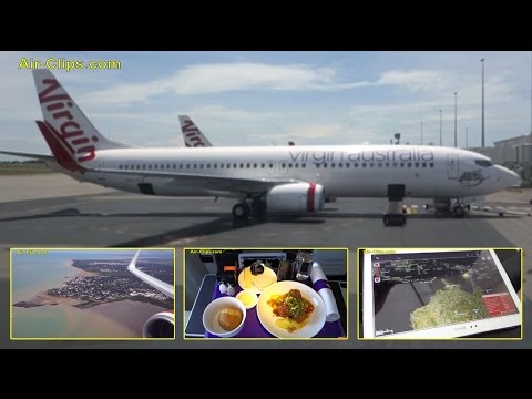 Virgin Australia Boeing 737-800 VERY COOL Business Class Darwin-Perth [AirClips full flight series]