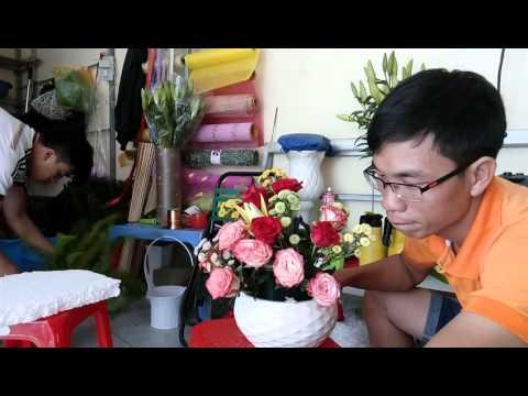 Hướng dẫn Cắm Hoa Nghệ Thuật Đẹp DienHoa24gio.net