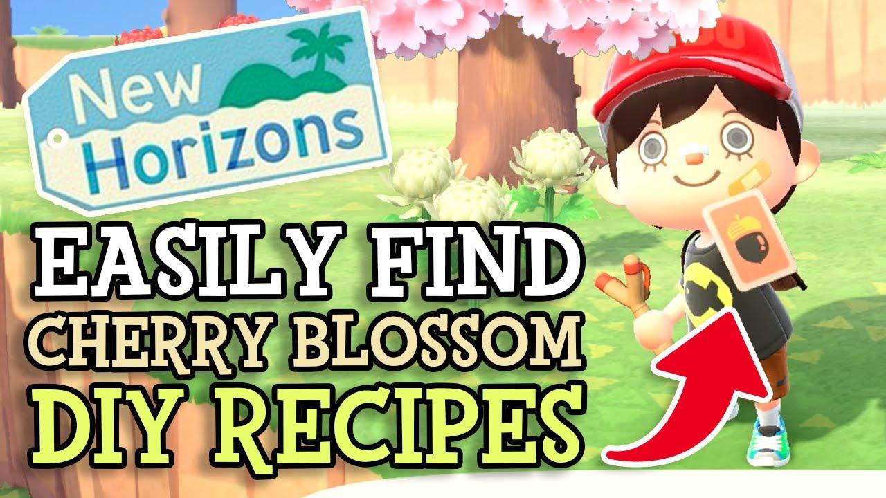 Animal Crossing New Horizons How To Find Cherry Blossom Diy Recipes Tips Sakura Event Theory Youtube