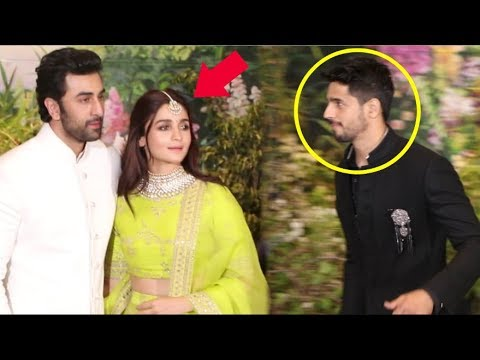 Alia Bhatt IGNORES Ex Boyfriend Sidharth Malhotra While With Ranbir Kapoor At Sonam Kapoor Wedding