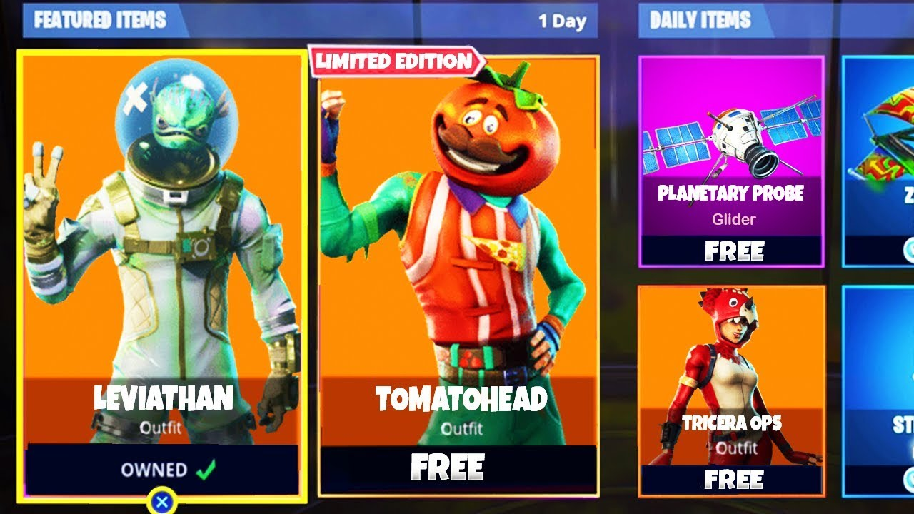 *NEW* FREE SKINS LEAKED In Fortnite - Leviathan, Tomatohead, & Tricera Ops In Fortnite Battle Royale #1
