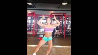 Song Naeun Flexing in Gym June 2016