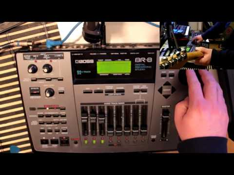 Testing Boss BR-8 multitrack recorder
