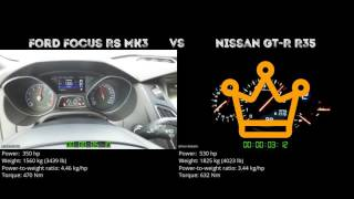 Ford Focus RS MK3 vs. Nissan GT-R R35 - the 0-100 km/h duel. Which ...